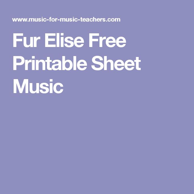 Well Known Fur Elise Piano Sheet Music For Beginners Uz73: 25+ Best Ideas About Fur Elise Sheet Music On Pinterest