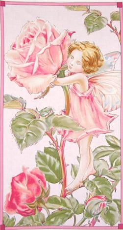 Michael Miller Sweet Flower Fairies Panel Rose In 2019
