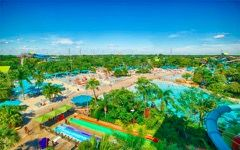 Aquatica, SeaWorld's waterpark, is a whimsical, one-of-a-kind experience! Float through an undersea world of exotic fish, thunder through rolling rapids, relax on our white sand beaches, or take a tube slide through an underwater world where dolphins play and race alongside you!