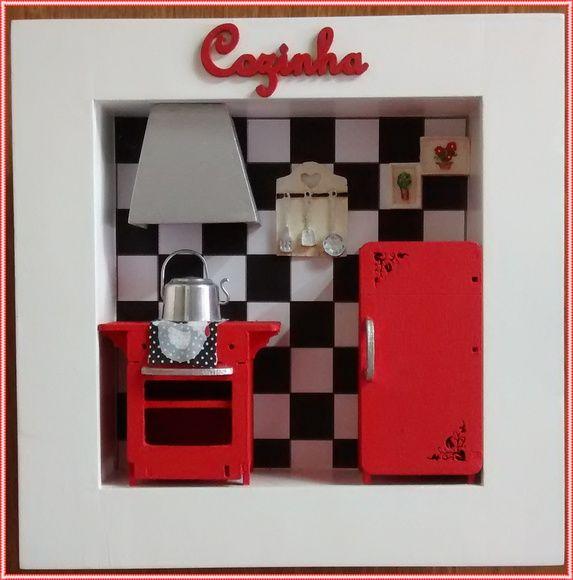 Quadro Cenario Cozinha - Red Retrô