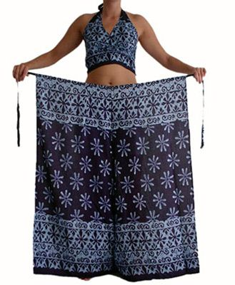 Sarong Wrap Pants: I used to have a pair of these these back in the day! Would love to have a whole selection - so cool and comfortable. @Annie Goodsell
