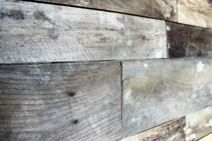 DIY Pallet Wood Back Splash