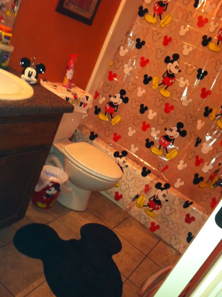 Mickey mouse bathroom set pictures i take pinterest for Mickey mouse bathroom ideas