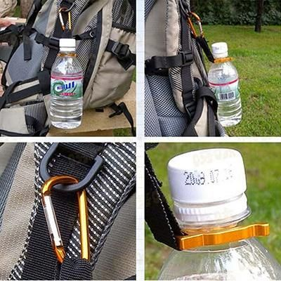 Water Bottle Buckle Holder Carabiner Hook Clamp Clip Camp Climb Travel Outdoor