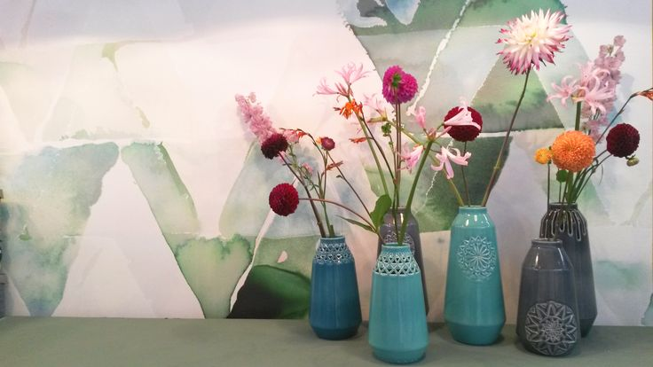 ANNY& carved vases at the VT wonen beurs 2015