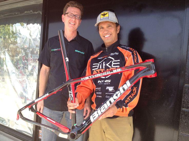 Jim Stevenson with Bianchi Methanol