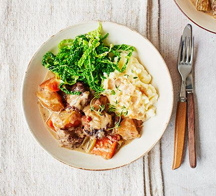 True comfort food for chilly winter evenings, this slow cooker recipe combines meltingly tender pork, smoked bacon and cider