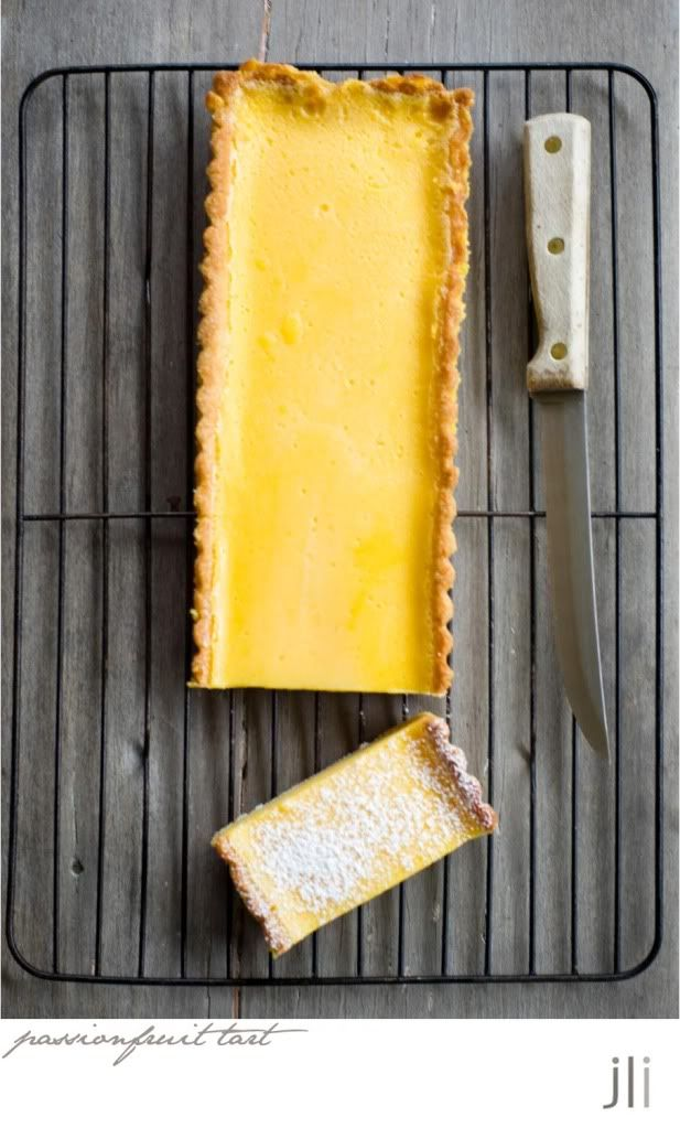 passionfruit and lemon tart