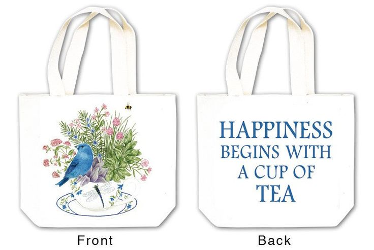 Bluebird Tea Tote with Tea and Spiced Tea Cup Mat