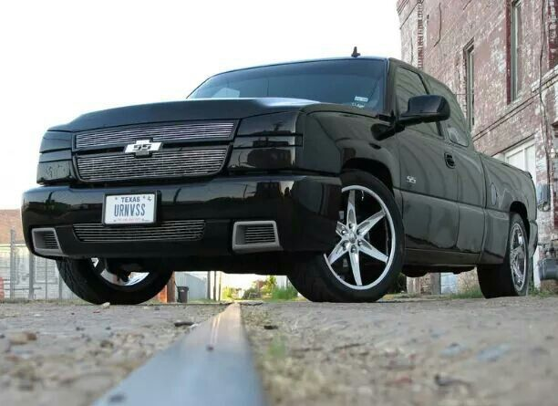 Black Chevy Silverado SS