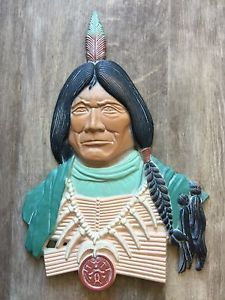 Vintage Aluminum Wall Plaque NATIVE AMERICAN INDIAN Southwest Sexton Made In USA  | eBay