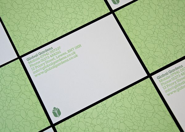 Global Gardens Business Card Designed By Studio Makgill.