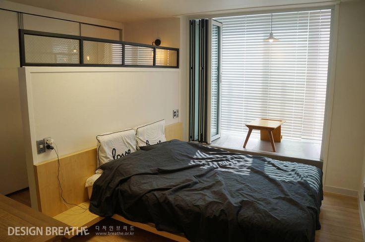 32평 초원대림아파트 리모델링 : 모던스타일 침실 by 디자인브리드