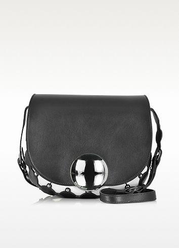 Janis Black & Ivory Leather Shoulder Bag - Emilio Pucci