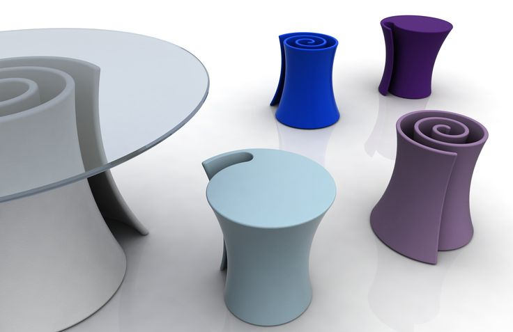 Pirullo table-pouf by Andrea Radice and Folco Orlandini