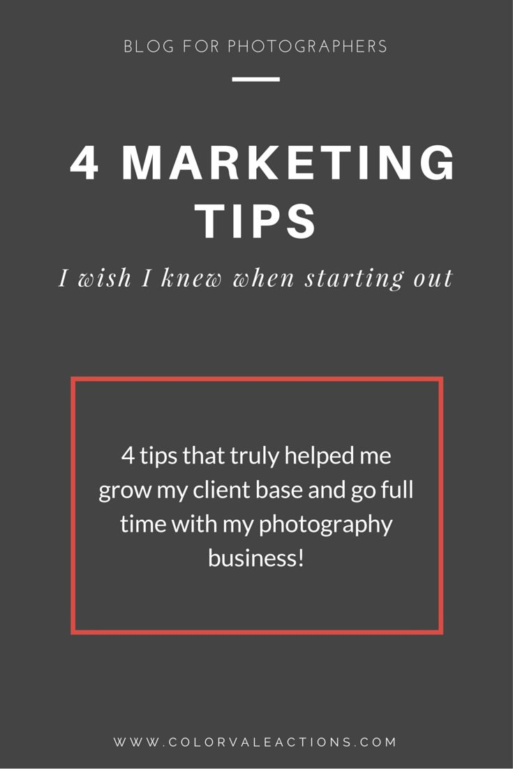 I'm going to go over some of the marketing stuff I wish I would have done instead.  The things that helped me grow my photography business, get more clients & go full time!