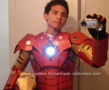 coolest diy iron man cardboard costume - Homemade Men Halloween Costumes