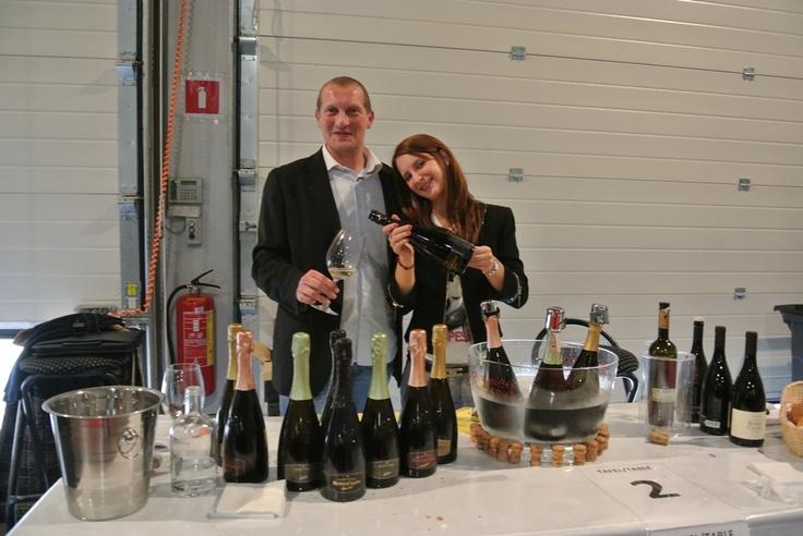 Giro d'Italia, Belgium. Wine tasting