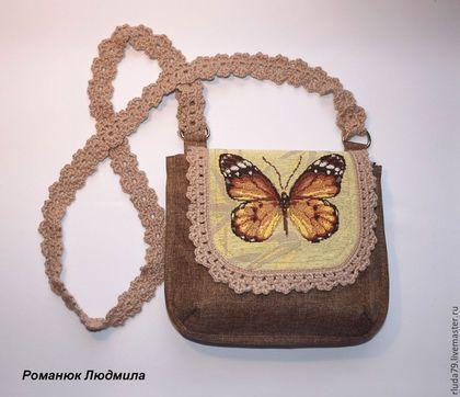 Сумка женская `Бабочка` Интернет-магазин Ярмарка мастеров Сумка ручной работы, сумка из текстиля, сумка из ткани