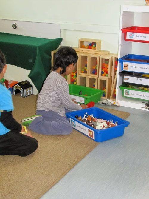 Hoe bewaar je de aanvullende materialen in de bouwhoek? Nou, zo bijvoorbeeld! >> Chalk Talk: A Kindergarten Blog: Creating the Block Center