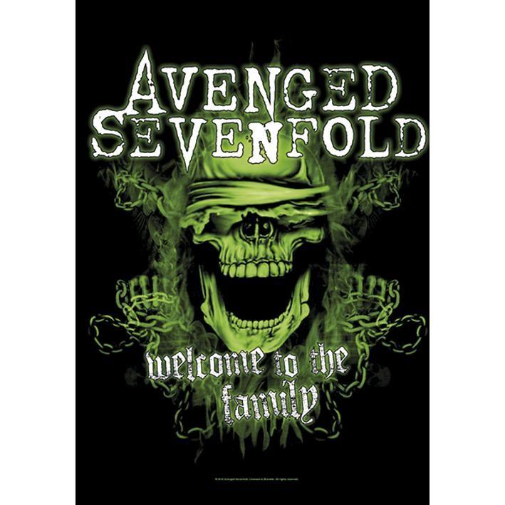 "Bandiera ""Welcome To The Family"" degli #AvengedSevenfold con stampa."