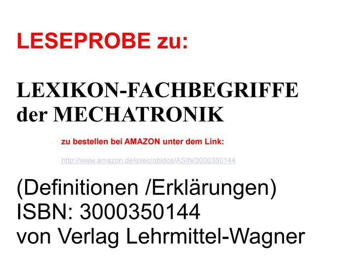 technisches lexikon + deutsch-englisch woerterbuch fuer ingenieure-mechatronik