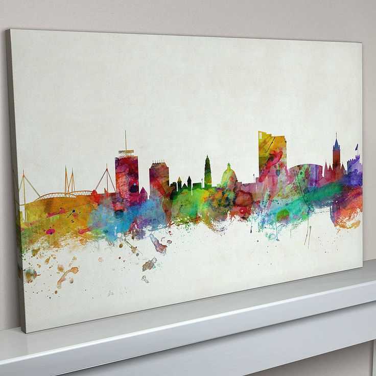 Cardiff Wales City Skyline
