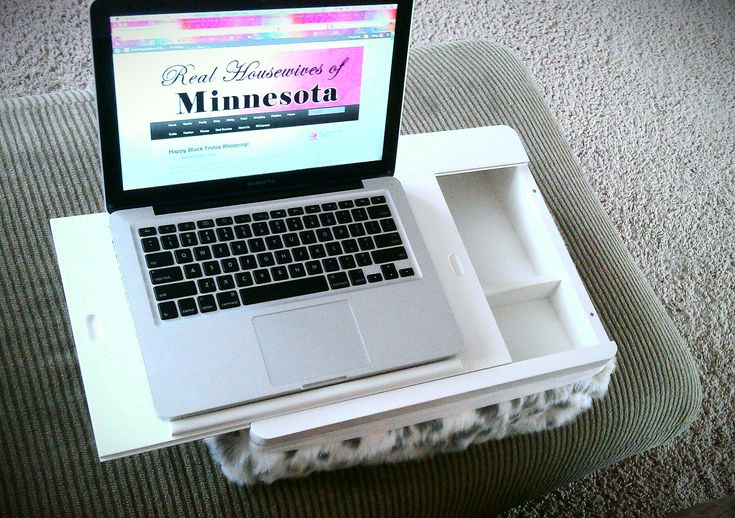 a lap desk with storage for Dad!! This one is PB Teen - Fur Superstorage Lap Desk