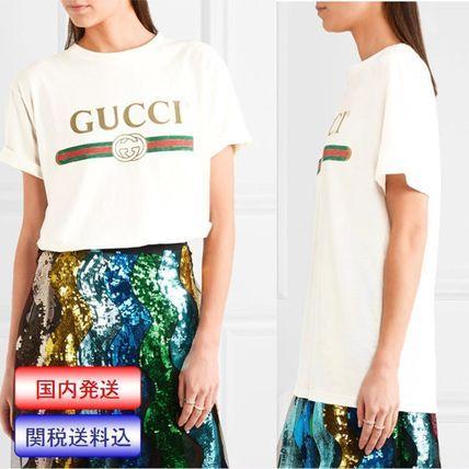 2017spring cruise♪ [関送込] GUCCI グッチ/ロゴ入りTシャツ