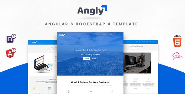 Angly is a general purpose responsive template developed