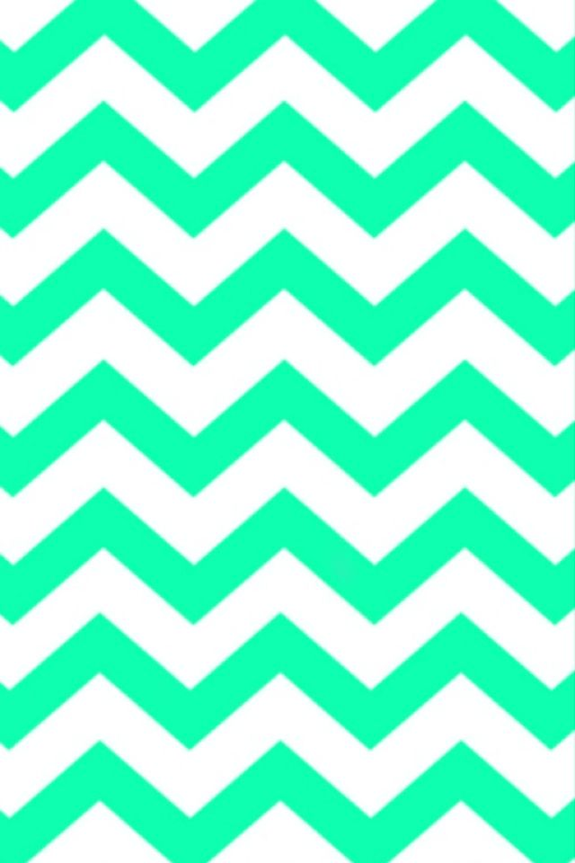 White And Lime Green Chevron Wallpaper Pattern