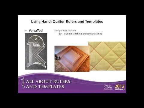 Video: Using Handi Quilter Rulers and Templates #HandiQuilter