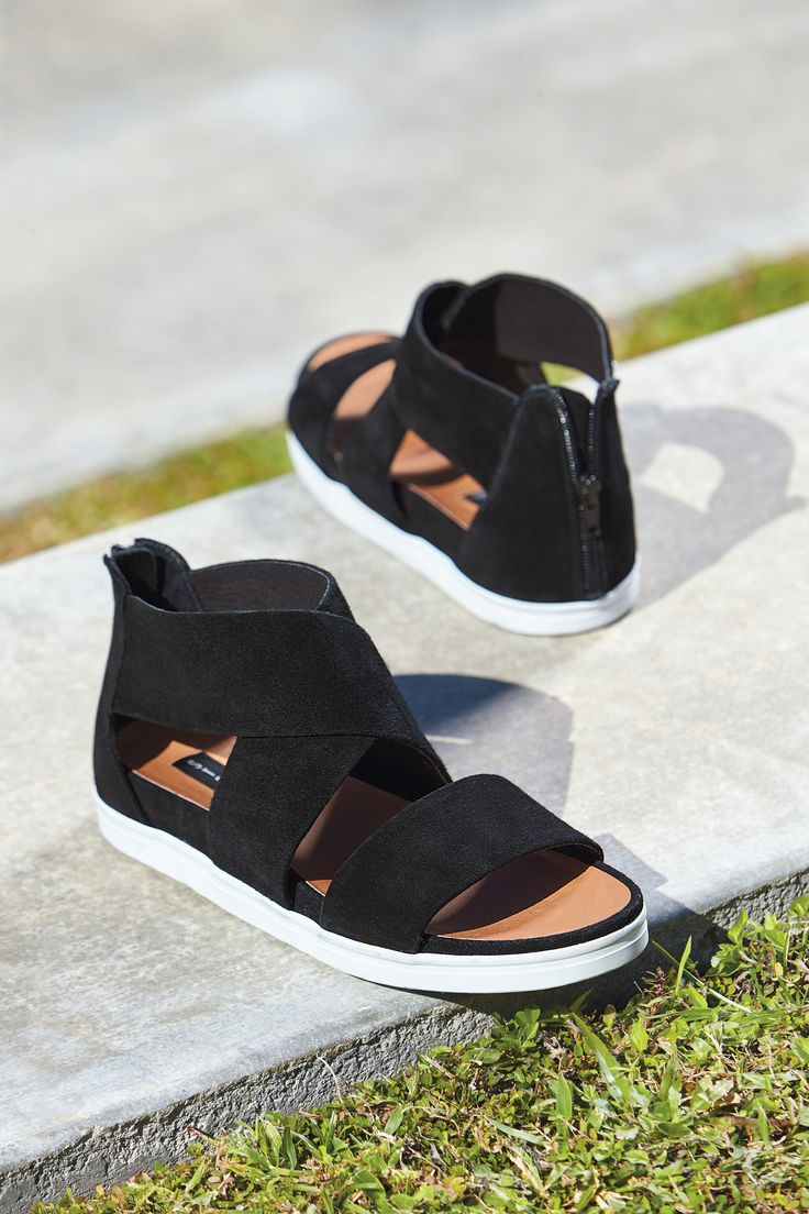 Black sandals belk - Steven By Steve Madden Flrence Sandal In Black Suede And Dusty Gold Leather It S A Sneaker It S A Sandal It S The Best Of Both