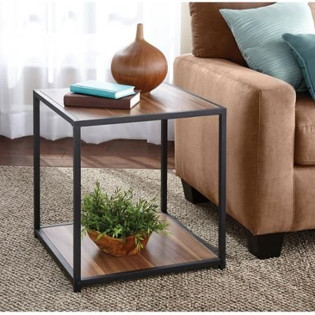 Mainstays Metro Side Table Multiple Finishes Warm