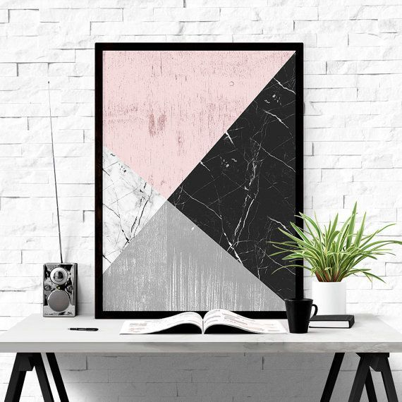 Geometric Art Printable Wall Art Abstract Art by ILovePrintable