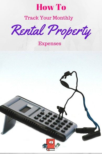 Track your monthly rental property expenses and income.