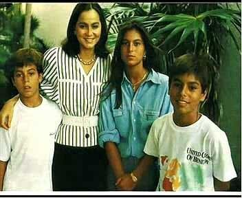 Isabel Preysler and Julio Iglesias | ENRIQUE, Isabel Preysler, Chabeli y Julio Iglesias Jr.