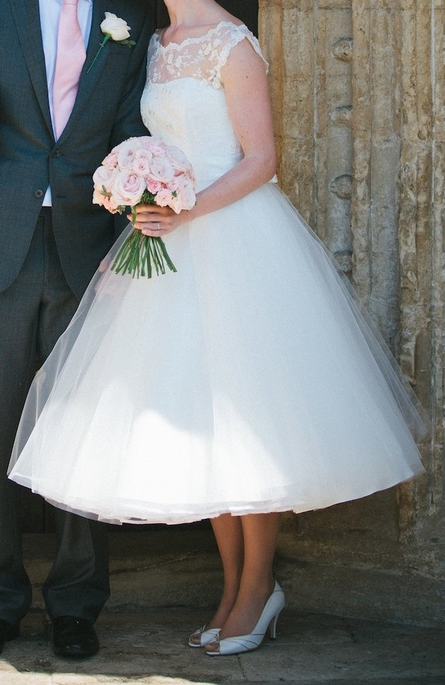 Vintage style wedding dress- Candy Anthony- Tea length. If I can wear a shirt dress I just might. Just add sleeves to this!!!!