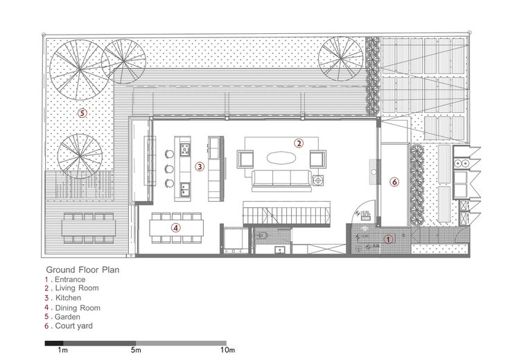 Image 12 of 17 from gallery of D House / Paz Gersh Architects. Ground Floor Plan