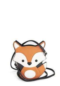 Little fox bag! Critter-cal Mass Bag in Fox, #ModCloth