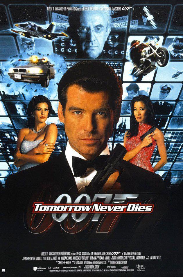 Tomorrow Never Dies (1997)  James Bond Poster https://www.youtube.com/user/PopcornCinemaShow