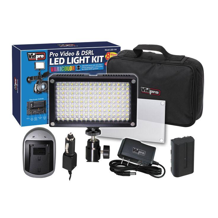 Vidpro Varicolor 144-Bulb Video and Photo LED Light Kit