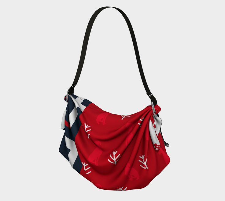 """Origami+Tote+""""BLUE+PLAID+RED+WEIMS""""+by+BLU+WEIM+DESIGNS"""