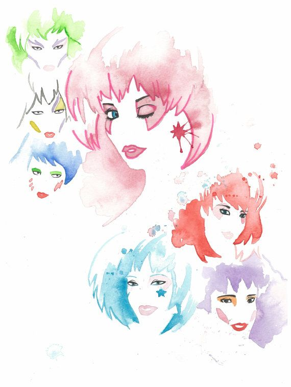 Master bedroom print-I'm pretty sure my husband would kill me if I put a print of Jem and the Holograms up in our room!  Hmmm...what about a mural? Ha!