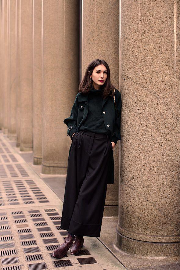 Toutes les tenues noires   Inspiration Minimal Outfit   Mode d'automne   Superposition de…