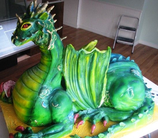 24 best dragon cakes images on Pinterest Dragon cakes Fairies
