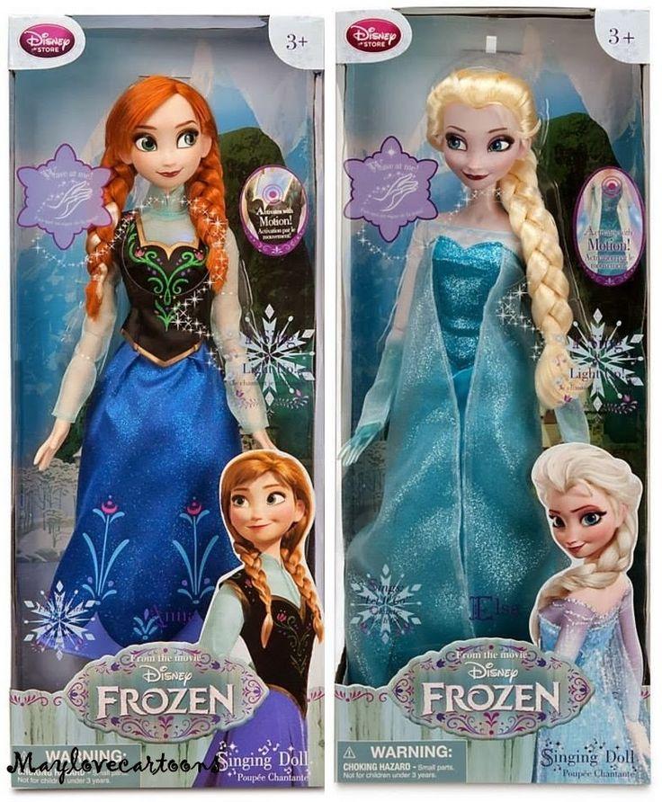 Elsa and Ana singing dolls