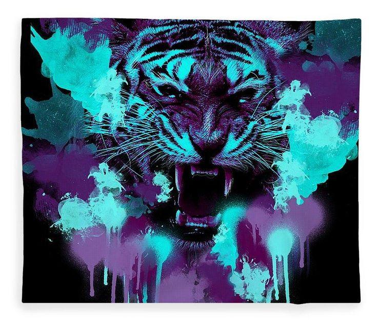 Painted Tiger - Blanket