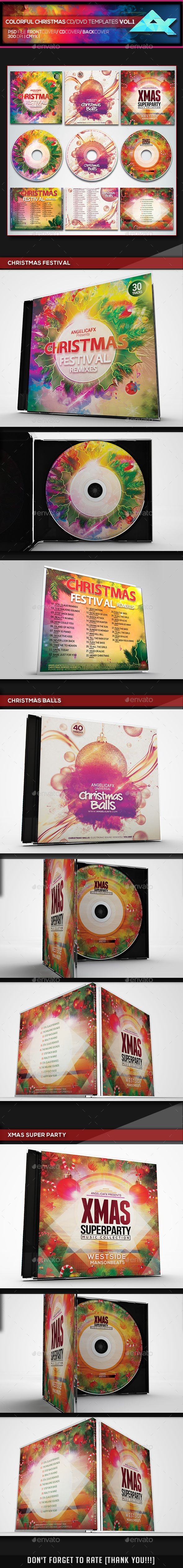 christmas cd cover template
