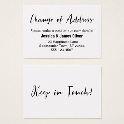 Address Change Template Change Of Address Casual Handwriting Insert